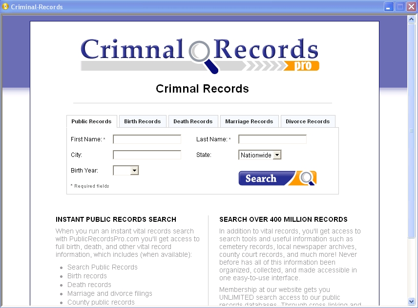 free public records and criminal records